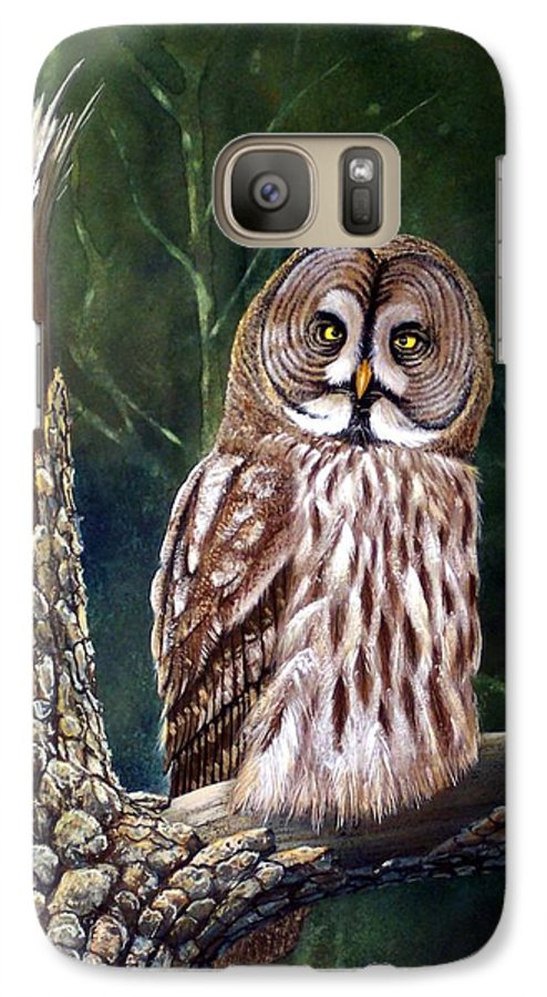 Wildlife Galaxy S7 Case featuring the painting Deep In The Woods by Frank Wilson