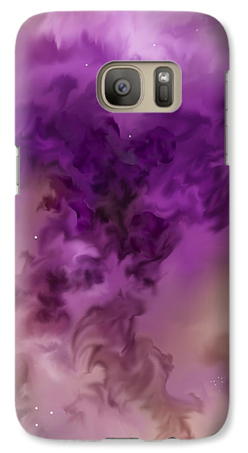 Starscape Galaxy S7 Case featuring the painting Eagle Nebula From The Hubble by Anne Norskog