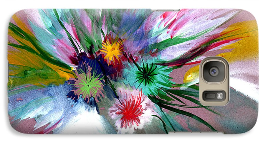 Flowers Galaxy S7 Case featuring the painting Flowers by Anil Nene