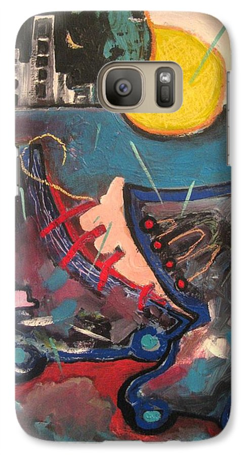 Abstract Paintings Galaxy S7 Case featuring the painting Forgotten Days by Seon-Jeong Kim