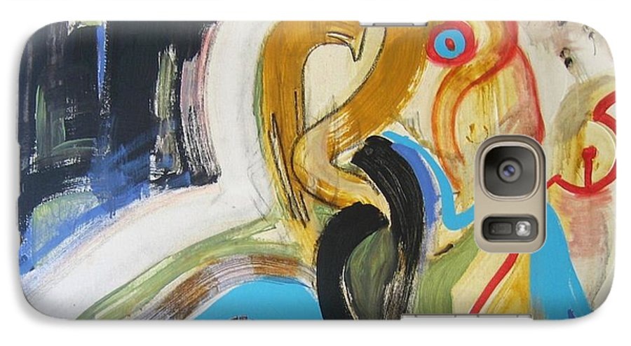 Abstract Art Paintings Galaxy S7 Case featuring the painting Hard To Escape by Seon-Jeong Kim