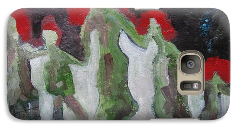 Abstract Paintings Galaxy S7 Case featuring the painting Holding Hands by Seon-Jeong Kim