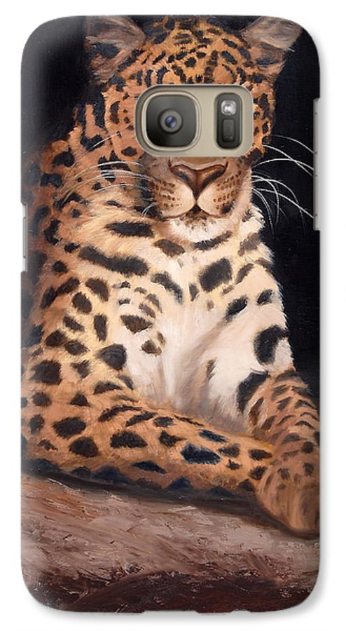 Wildlife Galaxy S7 Case featuring the painting Intrigued by Greg Neal