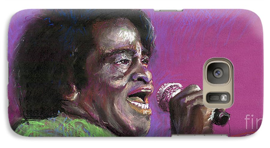 Jazz Galaxy S7 Case featuring the painting Jazz. James Brown. by Yuriy Shevchuk