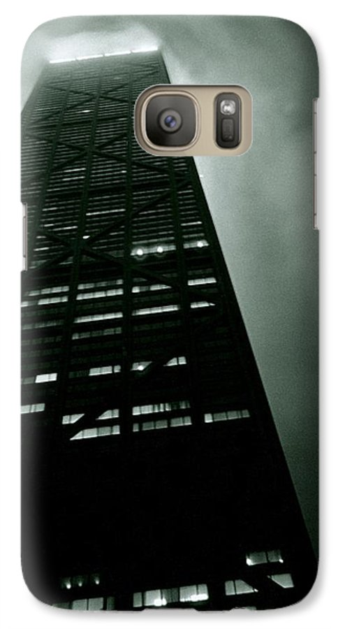 Geometric Galaxy S7 Case featuring the photograph John Hancock Building - Chicago Illinois by Michelle Calkins