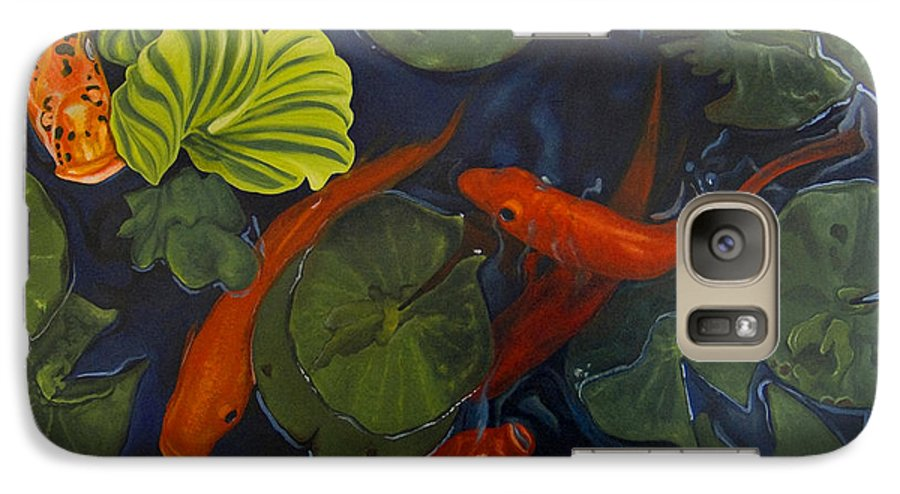Painting Galaxy S7 Case featuring the painting Koi Ballet by Peter Muzyka