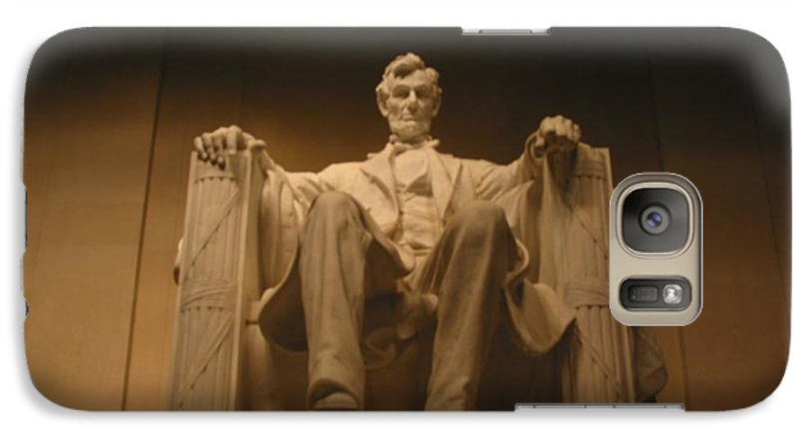 Abraham Lincoln Galaxy S7 Case featuring the painting Lincoln Memorial by Brian McDunn