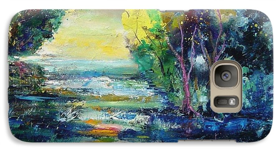 Pond Galaxy S7 Case featuring the painting Magic Pond by Pol Ledent
