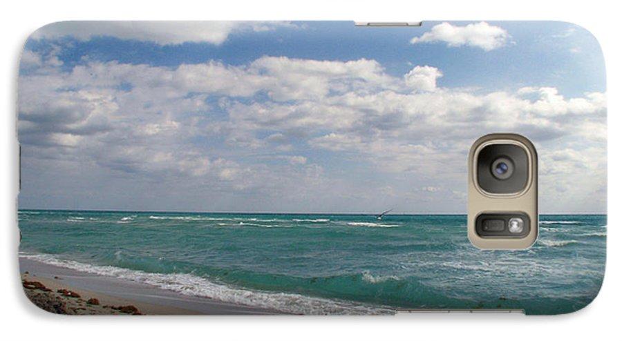 Miami Beach Galaxy S7 Case featuring the photograph Miami Beach by Amanda Barcon