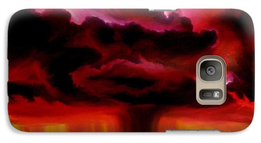 Skyscape Galaxy S7 Case featuring the painting Microburst by James Christopher Hill