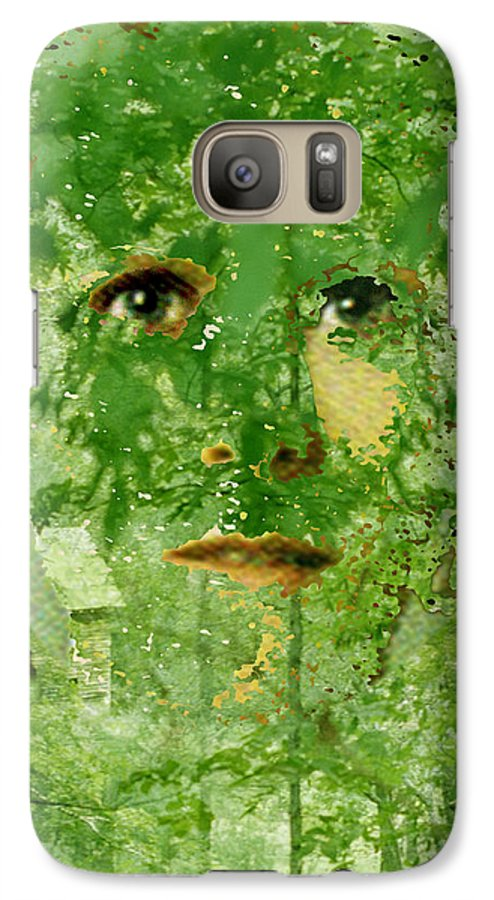 Lady Galaxy S7 Case featuring the digital art Mother Nature by Seth Weaver