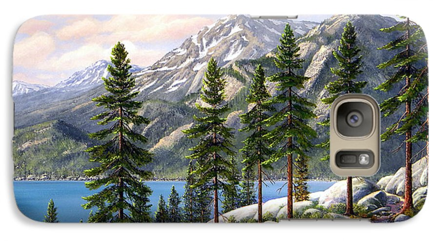 Landscape Galaxy S7 Case featuring the painting Mountain Trail by Frank Wilson
