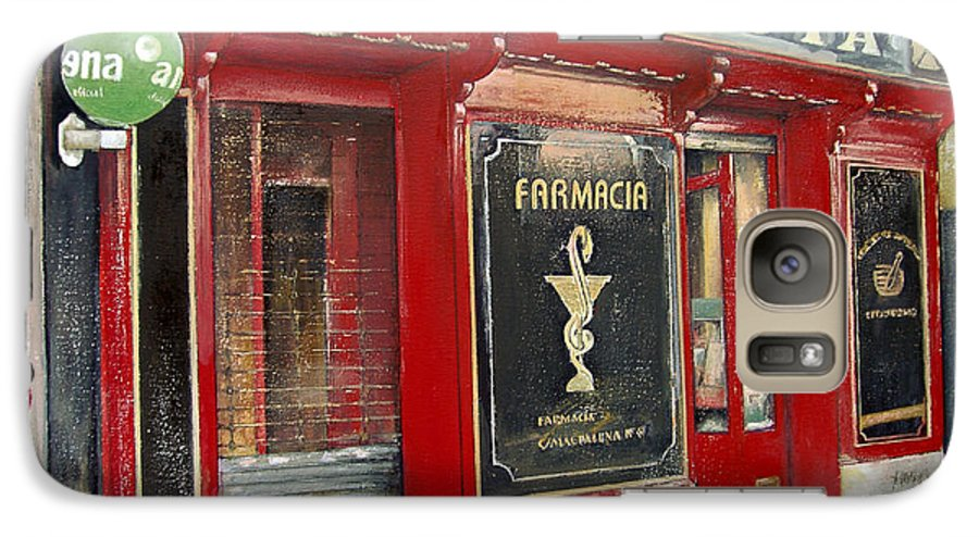 Farmacia Galaxy S7 Case featuring the painting Old Pharmacy by Tomas Castano