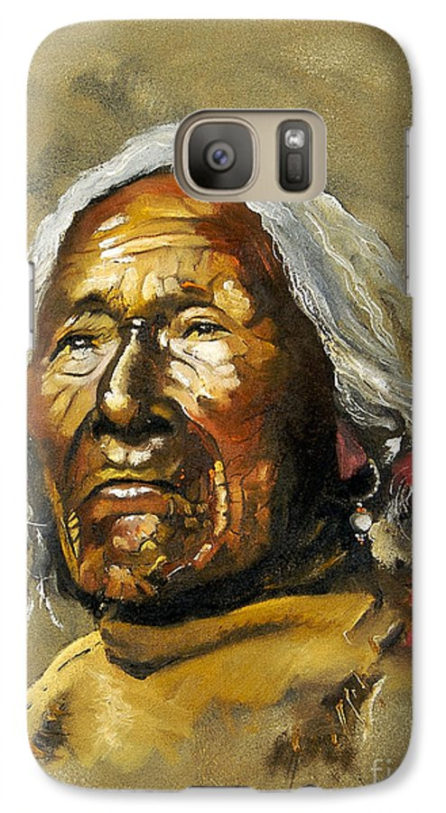 Southwest Art Galaxy S7 Case featuring the painting Painted Sands Of Time by J W Baker