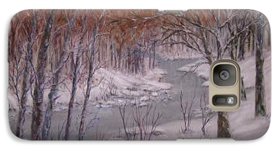 Snow; Landscape Galaxy S7 Case featuring the painting Peace And Quiet by Ben Kiger