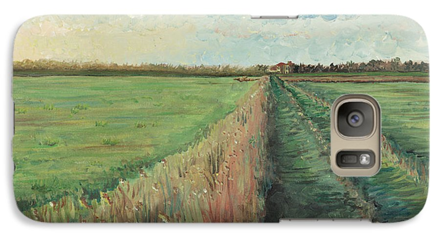 Provence Galaxy S7 Case featuring the painting Provence Villa by Nadine Rippelmeyer