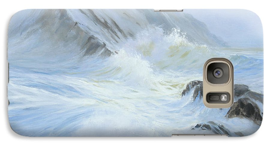 Seascape Galaxy S7 Case featuring the painting Quiet Moment II by Glenn Secrest