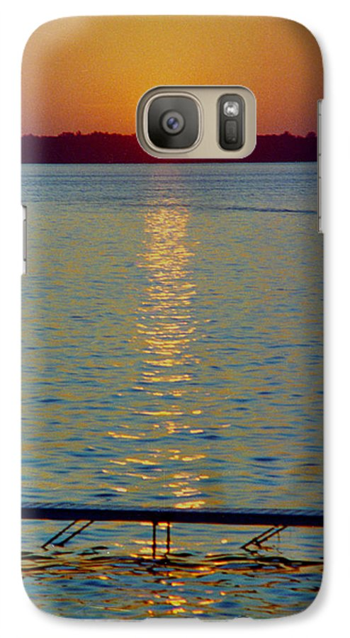Sunset Galaxy S7 Case featuring the photograph Quite Pier Sunset by Randy Oberg