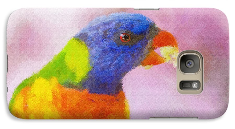 Rainbow Lorikeet Galaxy S7 Case featuring the photograph Rainbow Lorikeet by Sheila Smart Fine Art Photography