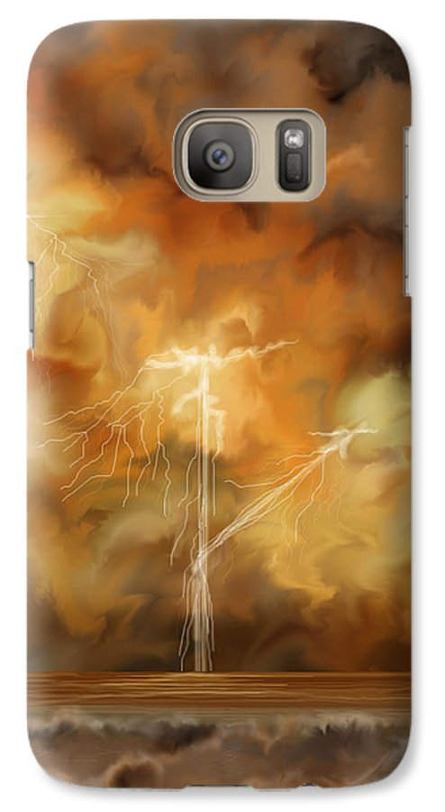 Anne Norskog Galaxy S7 Case featuring the painting Raw Power by Anne Norskog