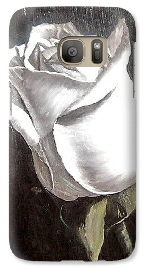 Flower Rose Still Life Galaxy S7 Case featuring the painting Rose 2 by Natalia Tejera