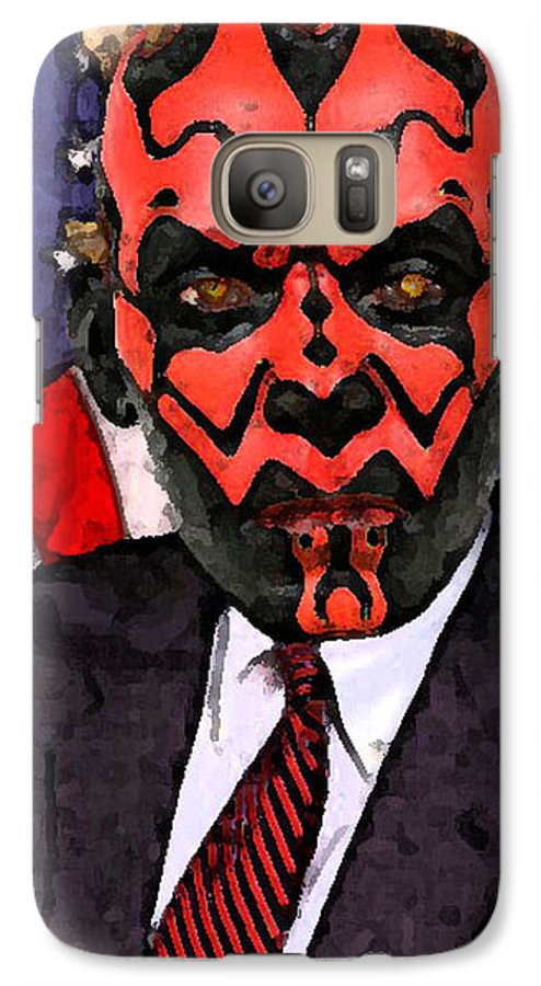 Star Wars Galaxy S7 Case featuring the digital art Senator Darth Maul by Eric Forster