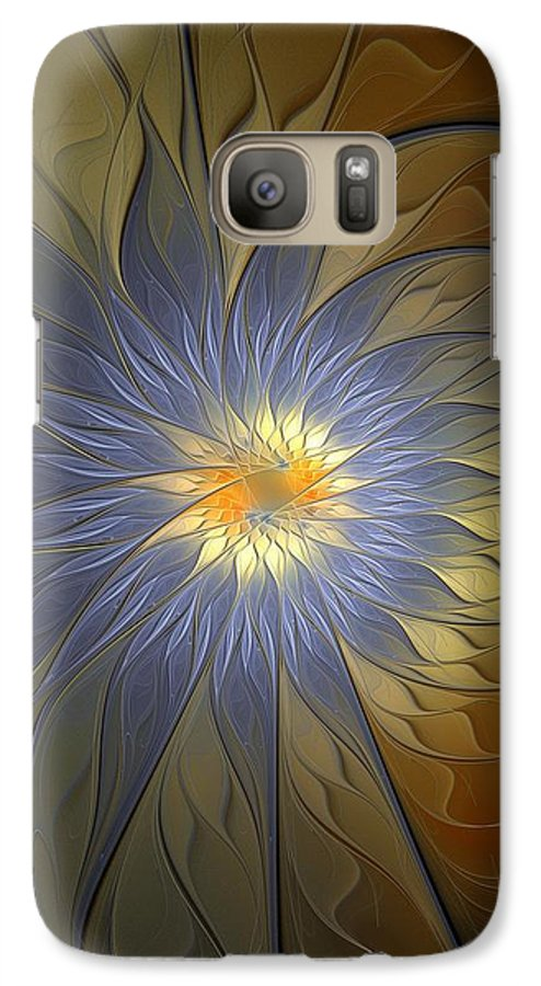 Digital Art Galaxy S7 Case featuring the digital art Something Blue by Amanda Moore