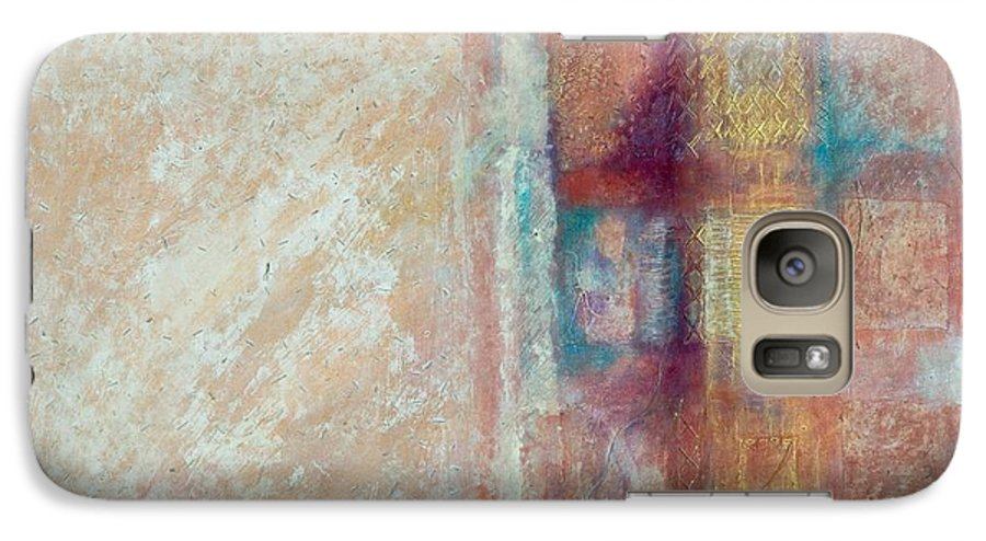 Mixed-media Galaxy S7 Case featuring the painting Spirit Matter Cosmos by Kerryn Madsen-Pietsch