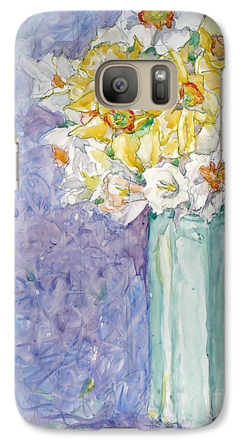 Watercolor Galaxy S7 Case featuring the painting Spring Blossoms by Jan Bennicoff