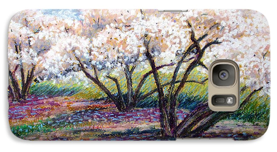 Oil Pastel Galaxy S7 Case featuring the painting Spring Has Sprung by Art Nomad Sandra Hansen