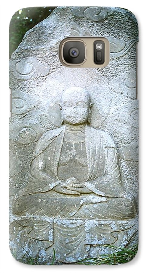 Stone Galaxy S7 Case featuring the photograph Stone Buddha by Dean Triolo