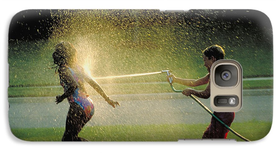 Hose Galaxy S7 Case featuring the photograph Summer Fun by Carl Purcell