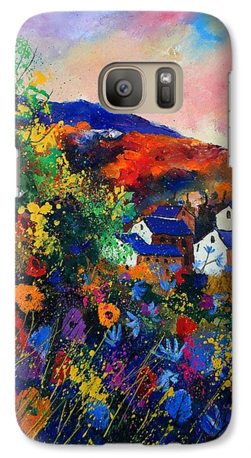 Landscape Galaxy S7 Case featuring the painting Summer by Pol Ledent