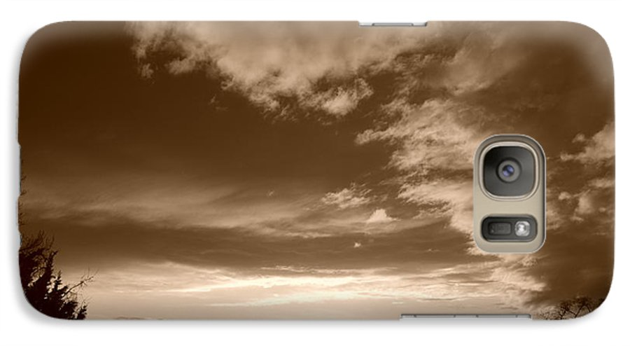 Sunset Galaxy S7 Case featuring the photograph Sunset And Clouds by Rob Hans