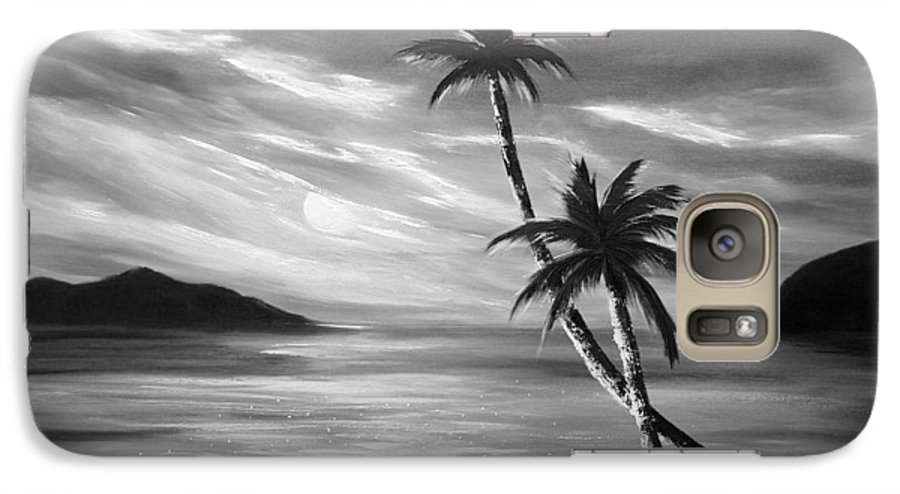 Sunset Galaxy S7 Case featuring the painting Sunset In Paradise by Gina De Gorna