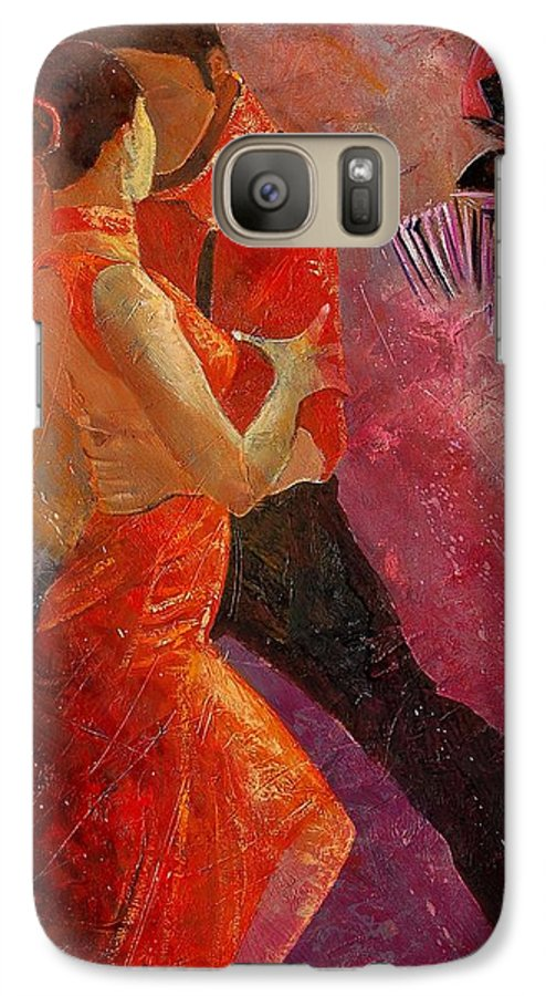 Tango Galaxy S7 Case featuring the painting Tango by Pol Ledent