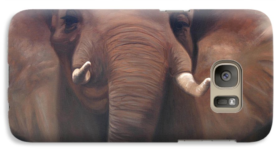 Painting Galaxy S7 Case featuring the painting The Charge by Greg Neal
