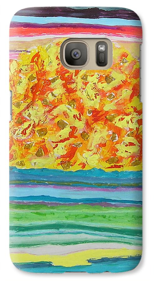 Hot Galaxy S7 Case featuring the painting The Sun Drinks The Ocean And Eats The Sky by James Campbell