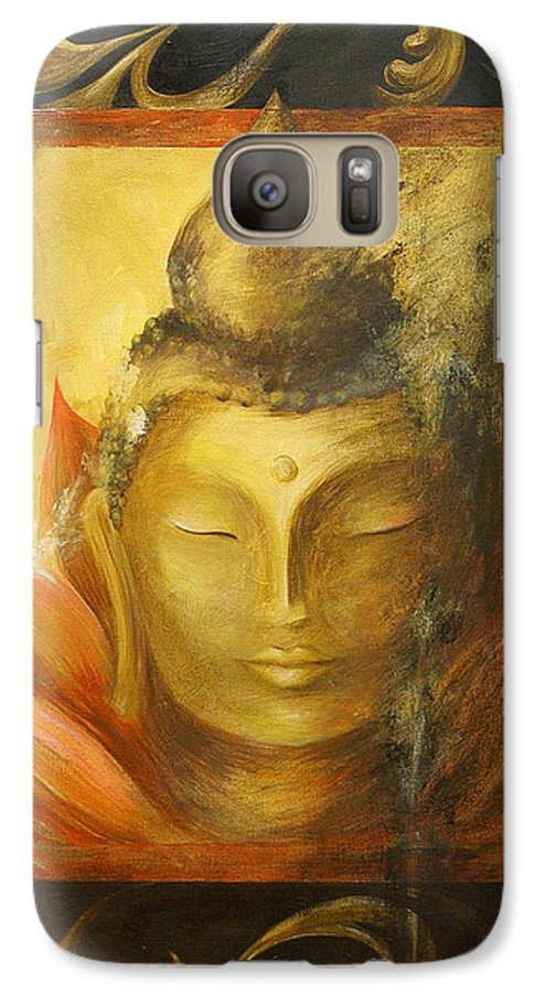 Buddha Buddhist Spiritual Yoga Lotus Meditation Galaxy S7 Case featuring the painting Transcendence by Dina Dargo