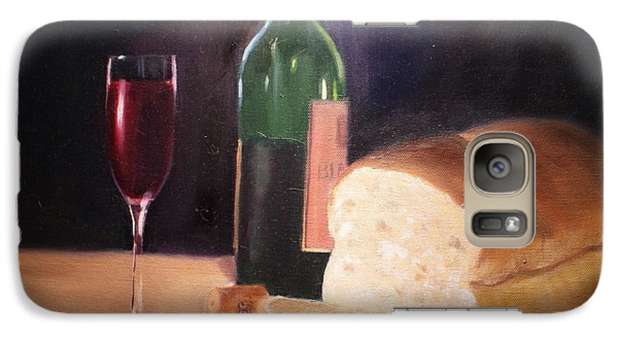 Wine Galaxy S7 Case featuring the painting Untitled by Toni Berry