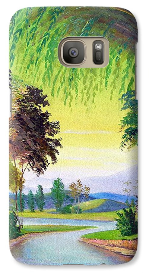 Landscape Galaxy S7 Case featuring the painting Verde Que Te Quero Verde by Leomariano artist BRASIL
