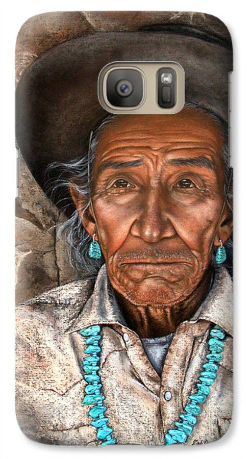 People Galaxy S7 Case featuring the painting Vision Of The Past by Deb Owens-Lowe