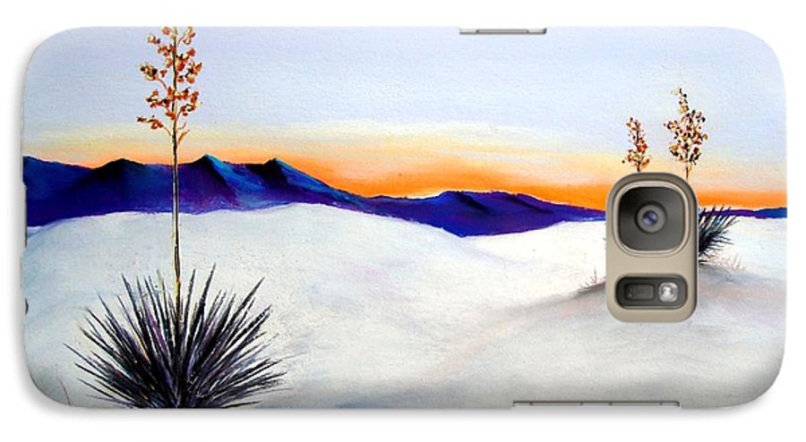White Sands Galaxy S7 Case featuring the painting White Sands by Melinda Etzold