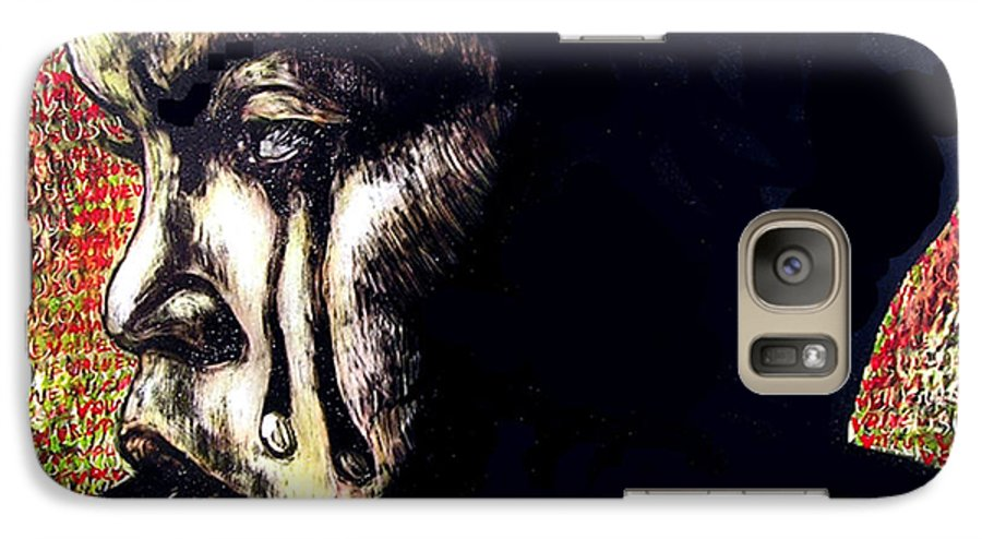 Galaxy S7 Case featuring the mixed media 1140 by Chester Elmore