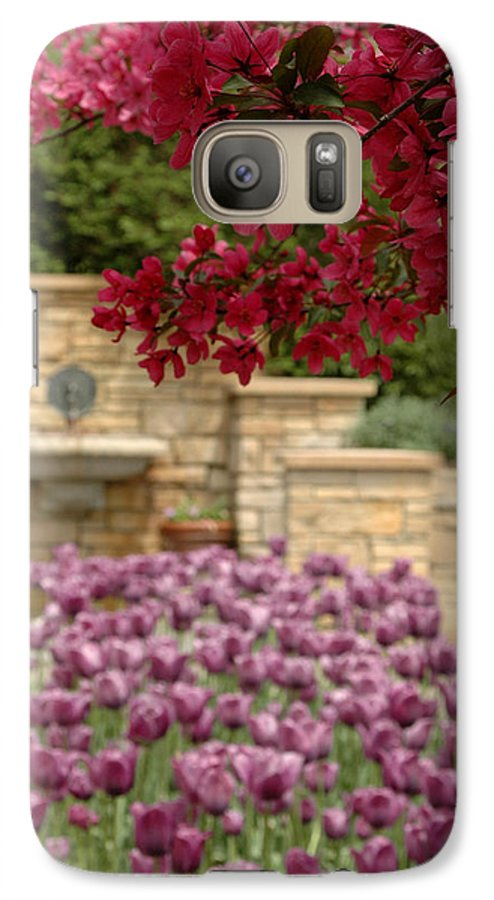 Tulips Galaxy S7 Case featuring the photograph Untitled by Kathy Schumann