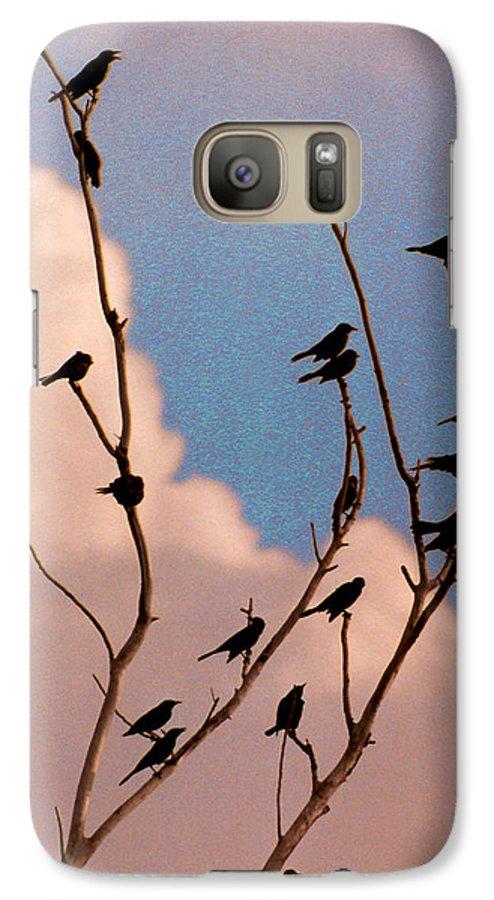Birds Galaxy S7 Case featuring the photograph 19 Blackbirds by Steve Karol