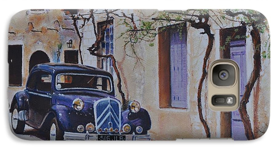 Classic Cars Galaxy S7 Case featuring the pastel 1951's Citroen by Iliyan Bozhanov