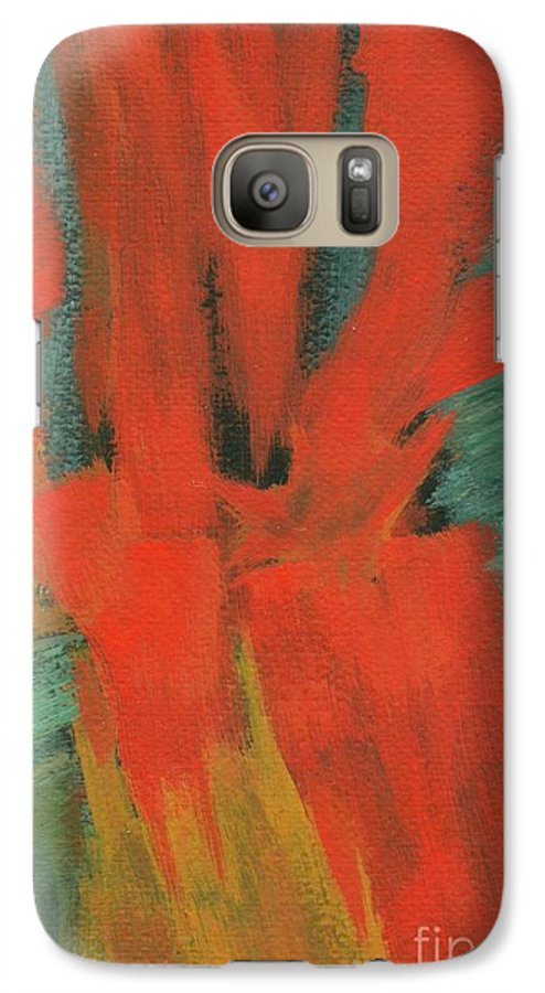 Abstract Galaxy S7 Case featuring the painting A Moment In Time by Itaya Lightbourne