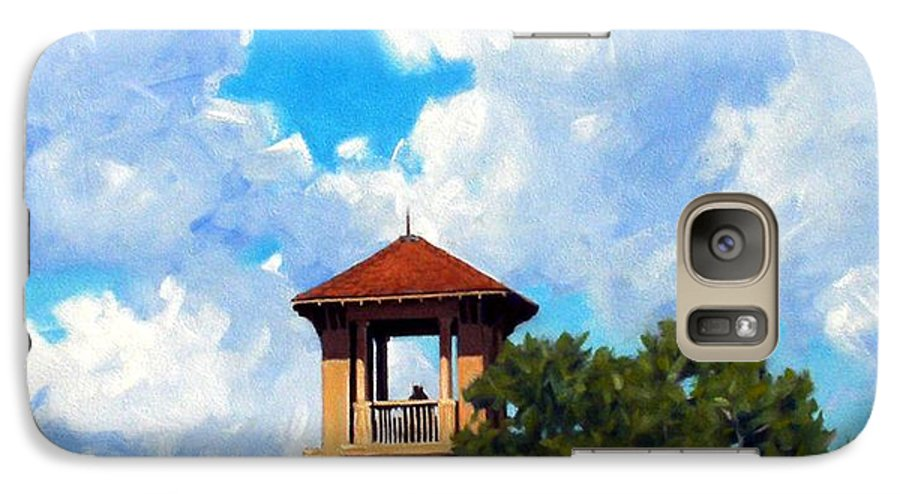 Sky Galaxy S7 Case featuring the painting Bell Tower by Kevin Lawrence Leveque