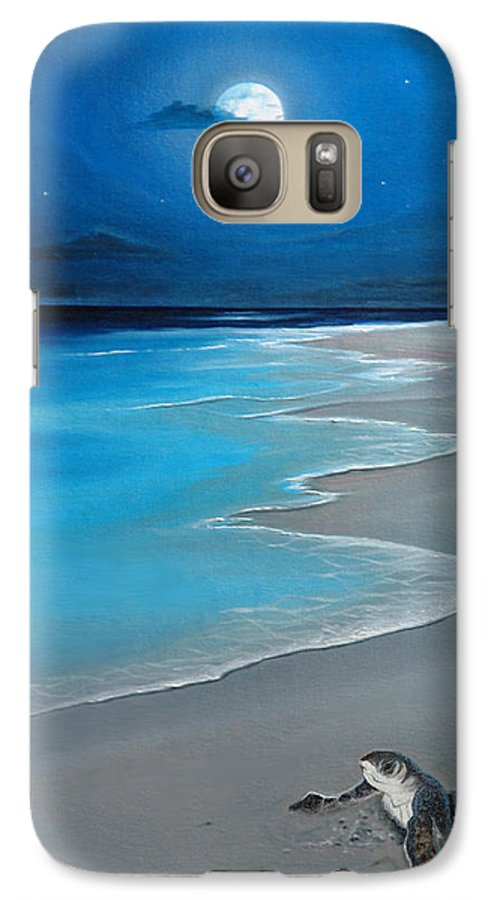 Seascape Art Galaxy S7 Case featuring the painting First Born by Angel Ortiz